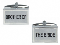 Dalaco 90-1468 Brother Of The Bride Wedding Rhodium Plated Cufflinks